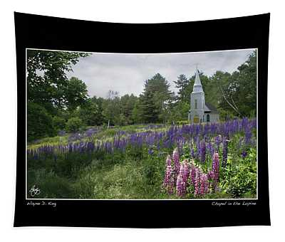 Chapel In The Lupine Poster Tapestry