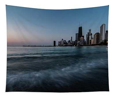 Chicago's Lakefront At Dawn  Tapestry