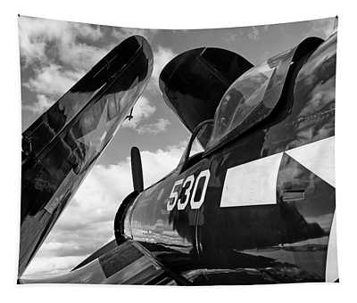 Corsair With Folded Wings Tapestry