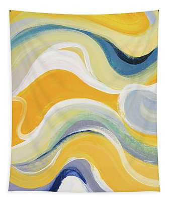 Curvilinear Bright I Tapestry