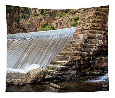 Dam In Waterton Canyon, Colorado Tapestry