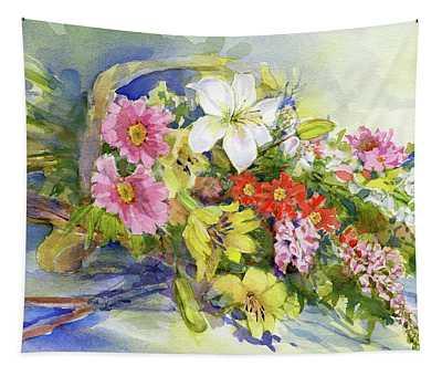 Flower Basket Tapestry