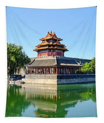 Forbidden City Watchtower  Tapestry