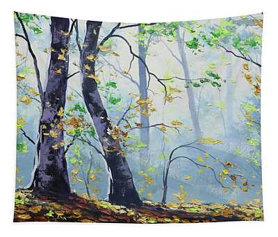 Forest Sunrays Tapestry