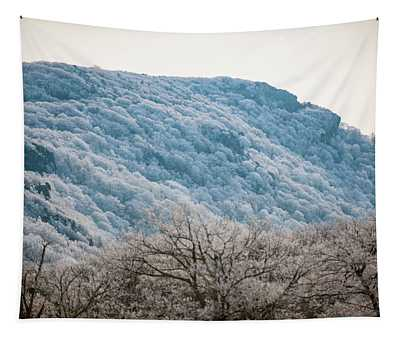 Frost On The Mountain Tapestry
