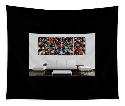 Funny Abstract Overlay Tapestry