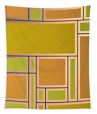 Golden Geometric Composition Tapestry