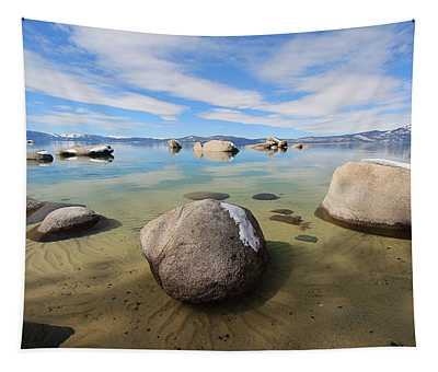 Winter Whispering Whale Tapestry