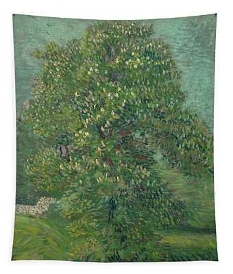 Horse Chestnut Tree In Blossom Tapestry