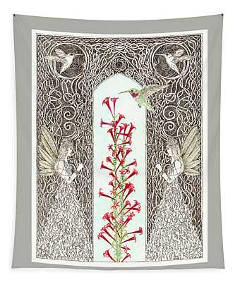 Hummingbird Sanctuary Tapestry