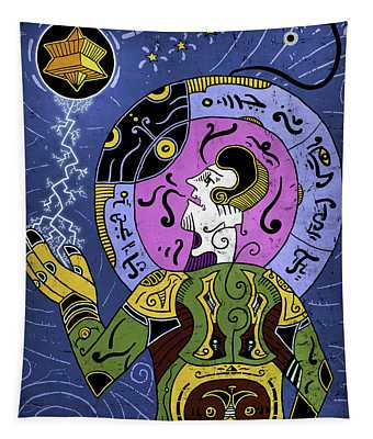 Tapestry featuring the digital art Incal by Sotuland Art