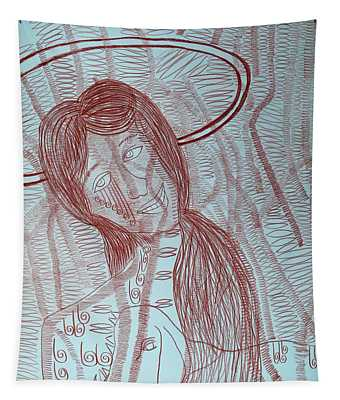 Jesus Christ The Good Shepherd Tapestry