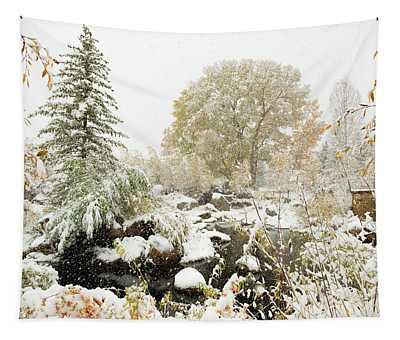 John Denver Sanctuary In Snow Tapestry