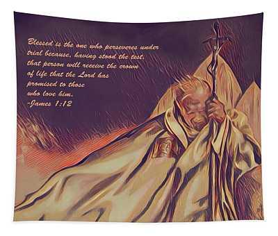 John Paul II In The Wind Tapestry
