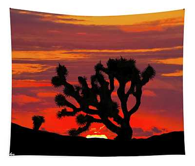 Joshua Tree At Sunset Tapestry