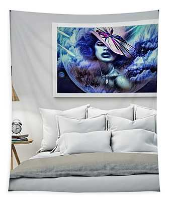 Lady Moon Light Tapestry