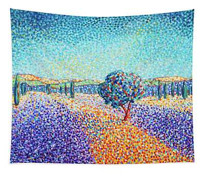 Lavender Field In Provence Tapestry