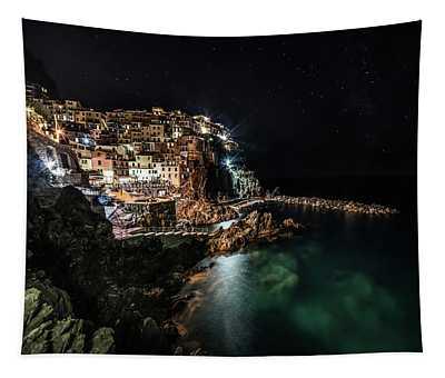 Manarola At Night Tapestry