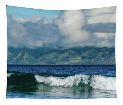 Maui Breakers Tapestry