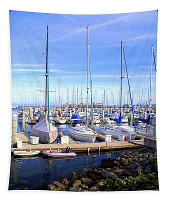 Monterey Harbor California Tapestry