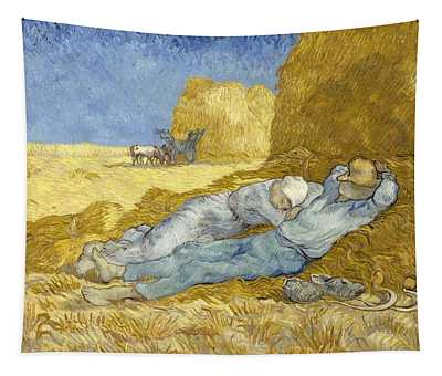Noon - Rest From Work Tapestry