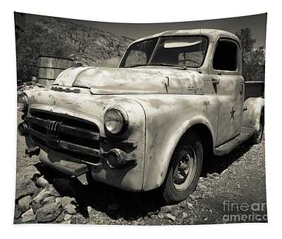 Old Dodge Truck In The Desert Tapestry