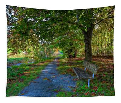 Park Bench Tapestry