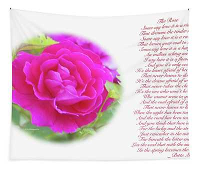 Pink Rose And Song Lyrics Tapestry