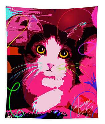 pOp Cat Callie Tapestry