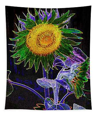 Psychedelic Sunflower Tapestry