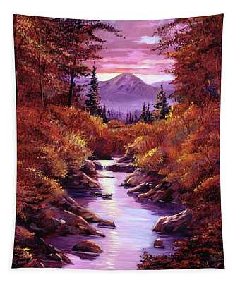 Quiet Autumn Stream Tapestry