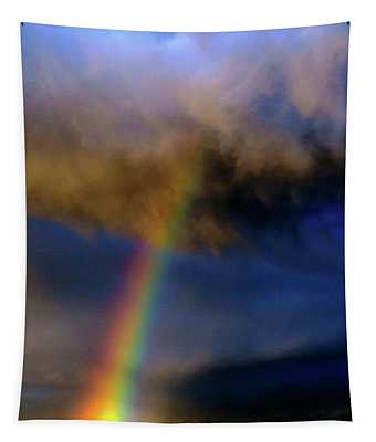 Rainbow During Sunset Tapestry