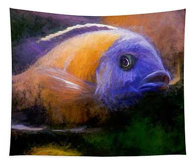 Red Fin Borleyi Cichlid Tapestry