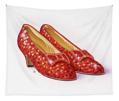 Ruby Slippers The Wizard Of Oz Tapestry