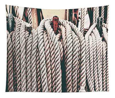 Sailboat Ropes Retro Tapestry