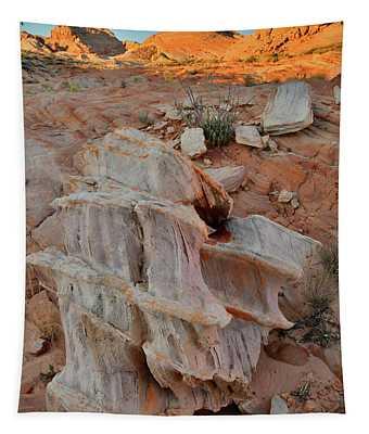 Sandstone Artwork In Valley Of Fire Tapestry