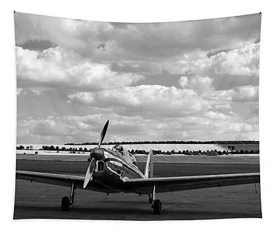 Silver Airplane Duxford England Tapestry