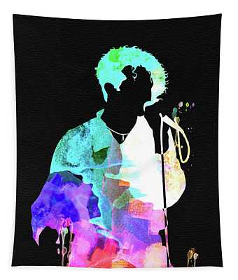 Simply Red Watercolor Tapestry