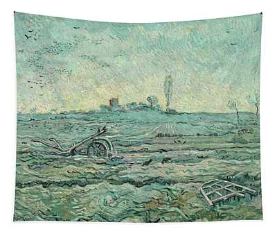 Snow-covered Field With A Harrow, After Millet Tapestry