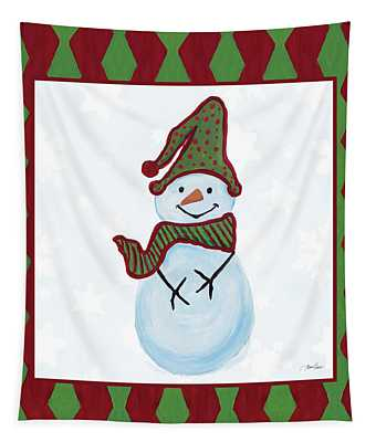 Snowman Zig Zag Square IIi Tapestry