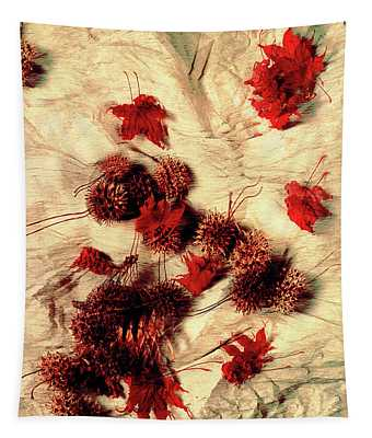 Spiked Nuts Red Tapestry