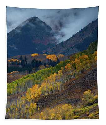 Stormy Weather Over The Elks Tapestry