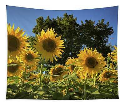 Sunlit Sunflowers Tapestry