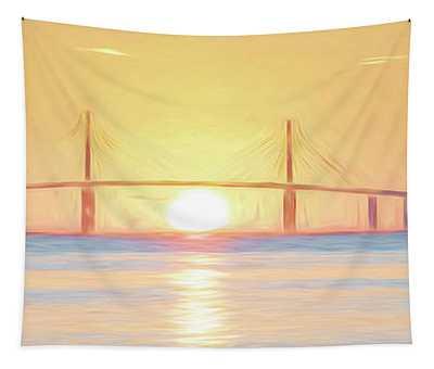 Sunshine Skyway Bridge Sunrise Tapestry