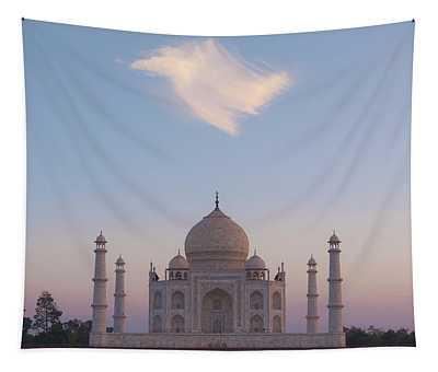 Taj Mahal At Sunset Tapestry