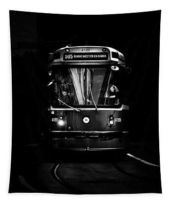 Tapestry featuring the photograph The 505 Dundas Streetcar Toronto Canada by Brian Carson