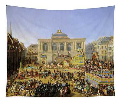 The Kermesse At Saint-omer In 1846 Tapestry