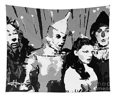 Tradition Of Oz-bw Tapestry