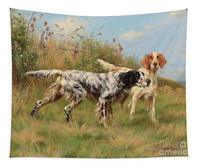 Two English Setters Tapestry