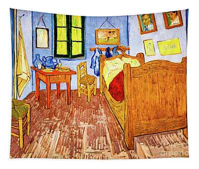 Tapestry featuring the painting Van Gogh's Bedroom by Vincent Van Gogh